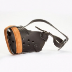 Leather Muzzle with Steel Bar